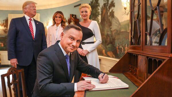 Andrzej Duda w Białym Domu - Sputnik Polska