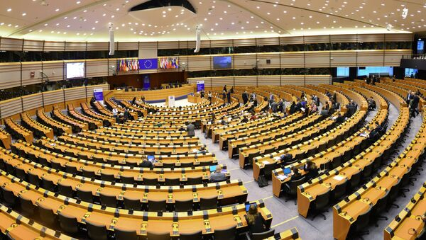 Sala posiedzeń Parlamentu Europejskiego w Brukseli - Sputnik Polska