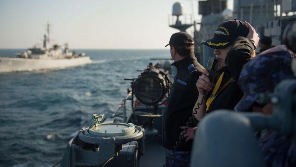 Rumuński okręt na Morzu Czarnym - Sputnik Polska