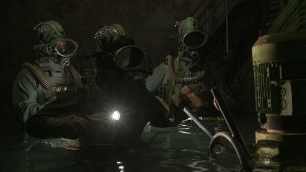 "Kadr z serialu ""Czarnobyl - Sputnik Polska"
