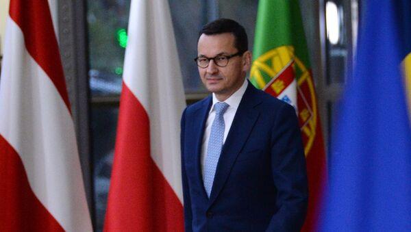 Mateusz Morawiecki podczas szczytu UE w Brukseli - Sputnik Polska