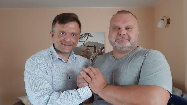 Polski polityk i politolog Mateusz Piskorski i senator Maciej Grubski. Czerwiec 2019 r.  - Sputnik Polska