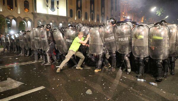 Protesty w Tbilisi - Sputnik Polska