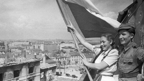 Polska flga nad Lublinem w II wś - Sputnik Polska