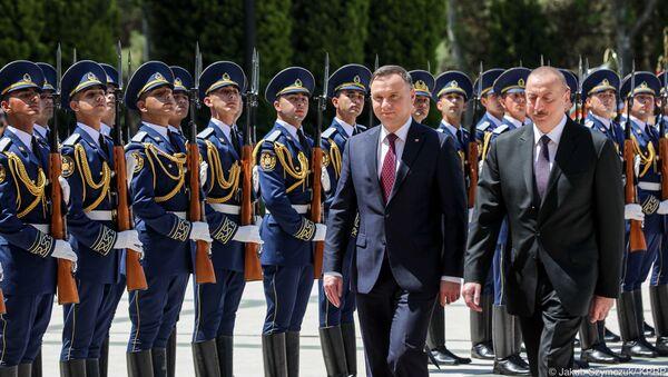 Wizyta prezydenta Polski Andrzeja Dudy w Azerbejdżanie - Sputnik Polska