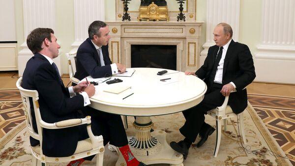 Prezydent Rosji Władimir Putin w czasie wywiadu dla FT - Sputnik Polska