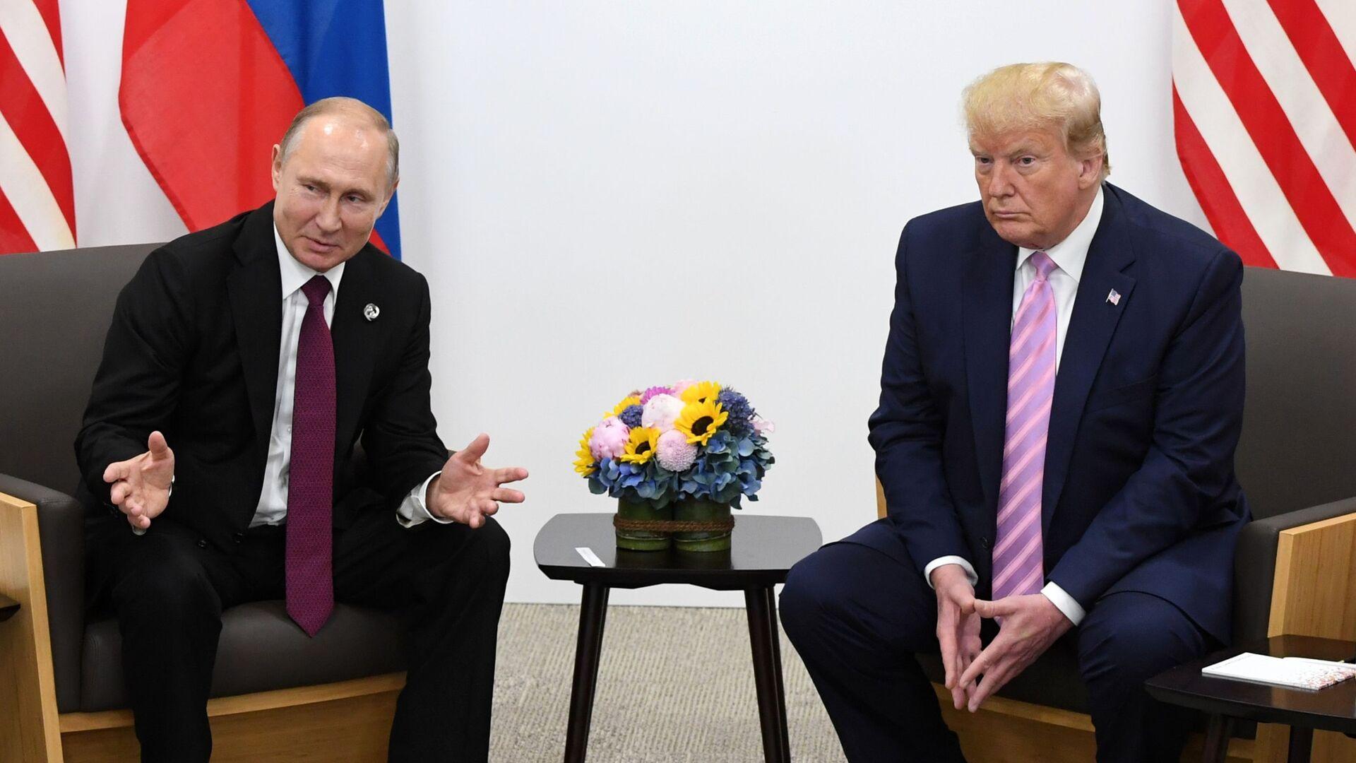 Spotkanie Władimira Putina i Donalda Trumpa na szczycie G20 w Japonii - Sputnik Polska, 1920, 29.09.2021