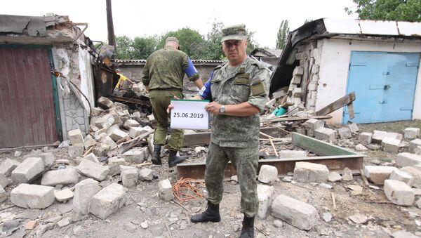 Przedstawiciel DRL ze Wspólnego Centrum ds. Kontroli i Koordynacji Zawieszenia Ognia w Donbasie - Sputnik Polska