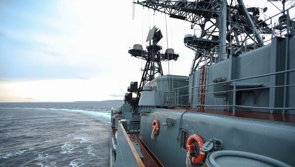 "Okręt ""Seweromorsk"" na Morzu Barentsa - Sputnik Polska"