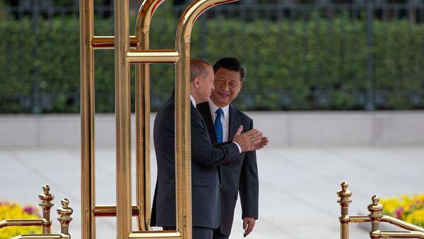 Prezydent Turcji Recep Tayyip Erdogan z wizytą w Chinach  - Sputnik Polska