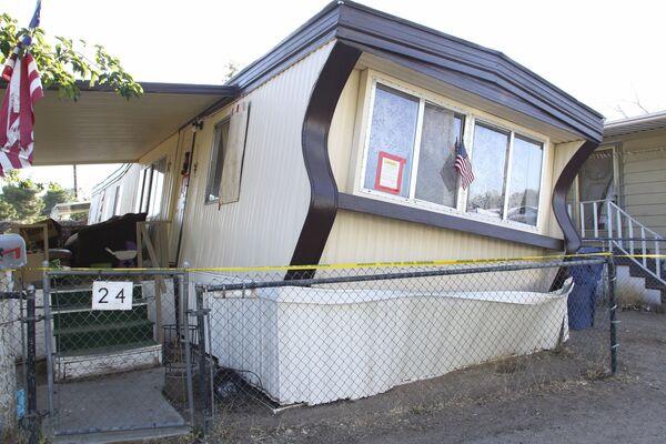 Samochód kempingowy w Ridgecrest po najsilniejszym od 25 lat trzęsieniu ziemi w Kalifornii (USA) - Sputnik Polska
