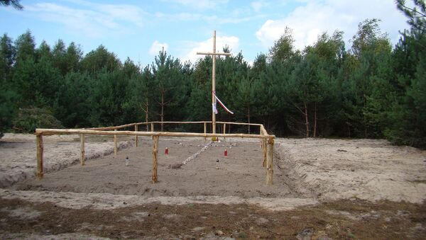 Miejsce ekshumacji ofiar Rzezi Wołyńskiej we wsi Ostruczki na Ukrainie - Sputnik Polska