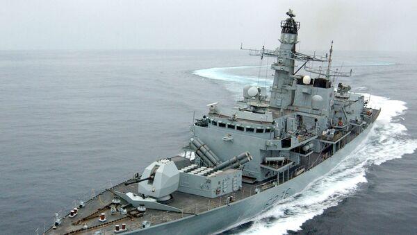 Fregata Brytyjskiej Floty Królewskiej HMS Montrose  - Sputnik Polska