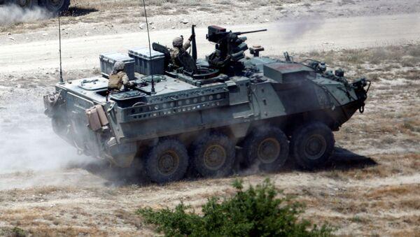 Amerykańscy wojskowi w czasie ćwiczeń Decisive Strike w Macedonii - Sputnik Polska