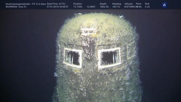 """Radziecki atomowy okręt podwodny K-278 """"Komsomolec"""" zatopiony w 1989 roku na Morzu Norweskim - Sputnik Polska"""