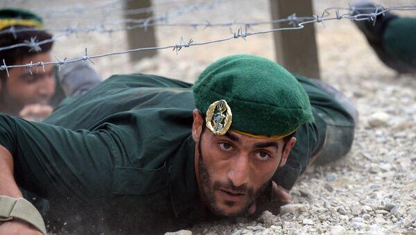 Irański żołnierz na międzynarodowych grach Armi 2017 w Rosji  - Sputnik Polska