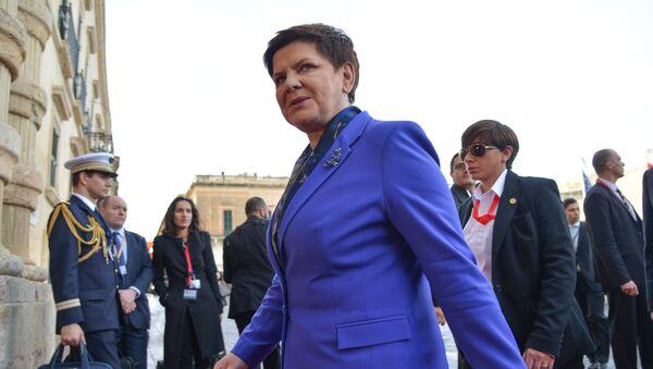 Beata Szydło podczas szczytu UE na Malcie - Sputnik Polska
