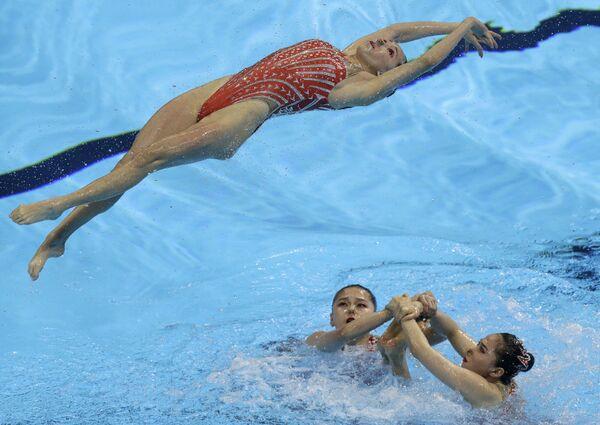 Sportsmenki z Chin na pływackich mistrzostwach świata w południowokoreańskim Gwangju - Sputnik Polska