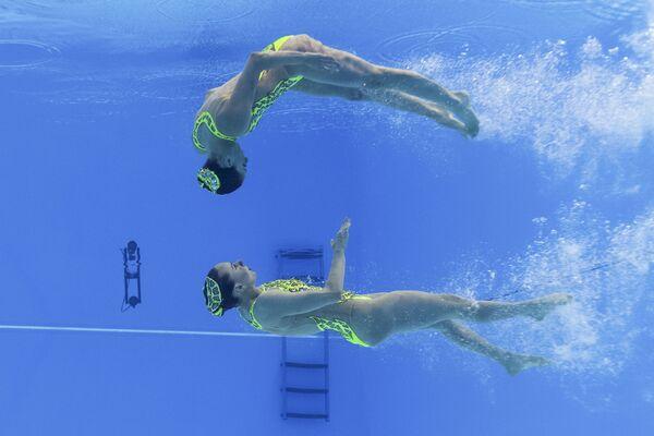 Reprezentacja Włoch na pływackich mistrzostwach świata w południowokoreańskim Gwangju - Sputnik Polska