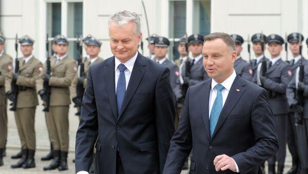 Prezydent Litwy Gitanas Nauseda i prezydent Polski Andrzej Duda - Sputnik Polska