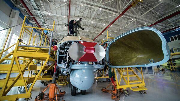 Radar rozpoznawczy śmigłowca szturmowego Ka-52 Alligator w zakładzie firmy Progress wchodzącej w skład holdingu Śmigłowce Rosji w Kraju Nadmorskim - Sputnik Polska
