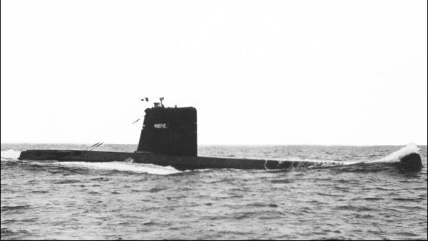"Francuski okręt podwodny ""Minerve"". Zdjęcie archiwalne - Sputnik Polska"