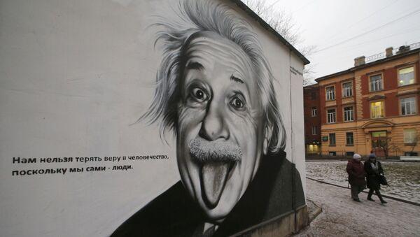Graffiti z wizerunkiem Alberta Einsteina - Sputnik Polska