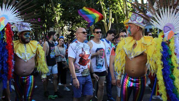 Marsz LGBT w Madrycie - Sputnik Polska