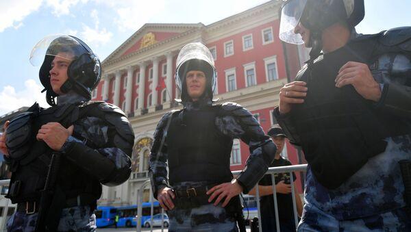 OMON na nielegalnej akcji protestacyjnej w Moskwie - Sputnik Polska