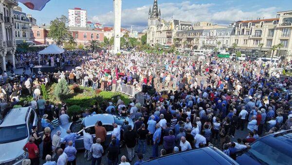 W Batumi trwa wiec z żądaniem przywrócenia stosunków z Rosją - Sputnik Polska
