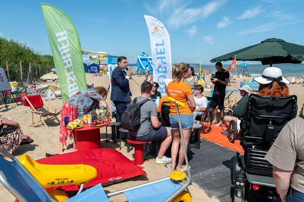 Plaża w Gdańsku-Brzeźnie wkrótce ma być w pełni dostosowana do potrzeb niepełnosprawnych - Sputnik Polska