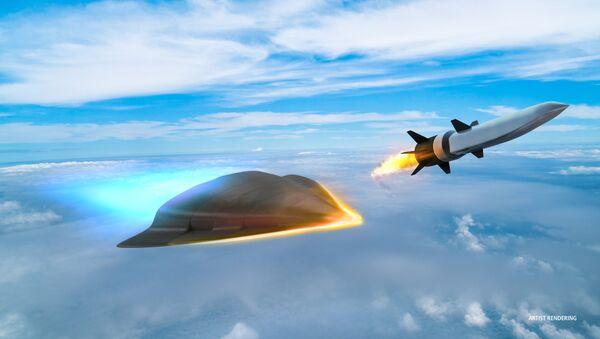 Artystyczny obraz hipersonicznej broni opracowanej przez firmę Raytheon dla Departamentu Obrony USA - Sputnik Polska