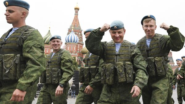 Obchody Święta Wojsk Powietrznodesantowych Rosji w Moskwie - Sputnik Polska
