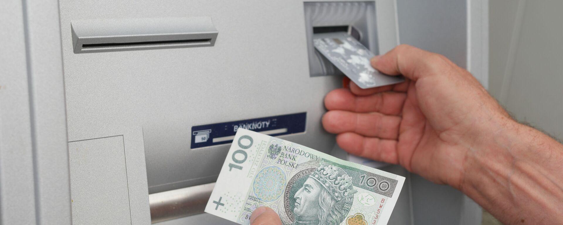 Pieniądze z bankomatu - Sputnik Polska, 1920, 27.08.2021