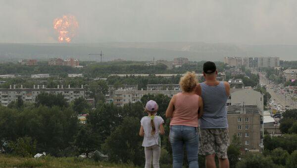 Wybuch amunicji na składzie pod Krasnojarskiem - Sputnik Polska