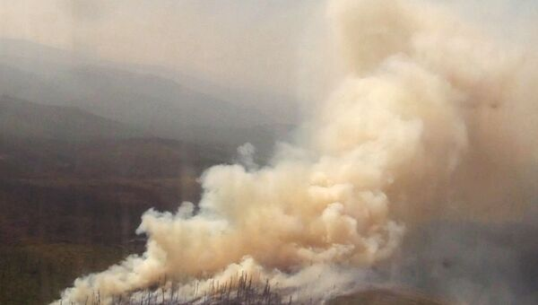Likwidacja pożarów lasów w obwodzie irkuckim - Sputnik Polska