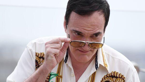 Reżyser Quentin Tarantino na dachu hotelu Ritz Carlton w Moskwie - Sputnik Polska