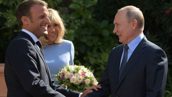 Spotkanie prezydenta Francji i prezydenta Rosji - Sputnik Polska