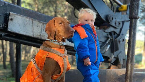 Brytyjska rodzina, w której wychowuje dziecko trener psów - Sputnik Polska