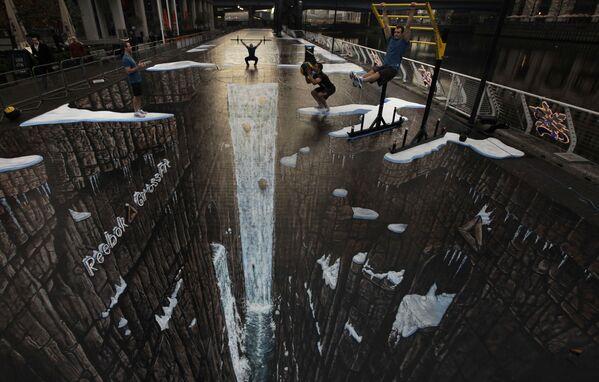 Największy na świecie rysunek 3D w Londynie - Sputnik Polska