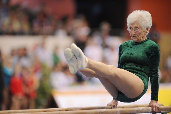 Johanna Quaas - najstarsza od 2016 roku gimnastyczką na świecie - Sputnik Polska