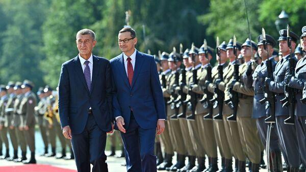 Premier Czech Andrej Babisz i premier Mateusz Morawiecki, wizyta czeskiej delegacji w Polsce - Sputnik Polska