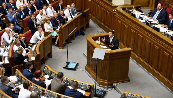 Pierwsze posiedzenie Rady Najwyższej Ukrainy w nowym składzie - Sputnik Polska