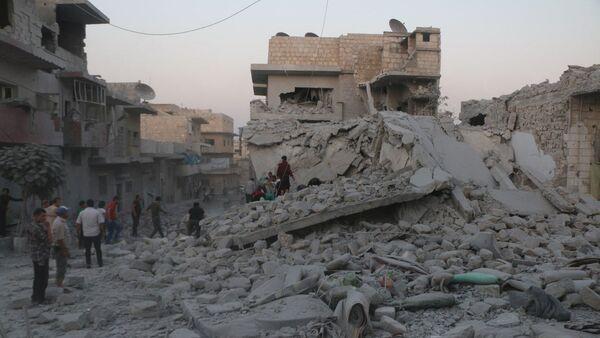 Zniszczenia w Idlib, Syria - Sputnik Polska