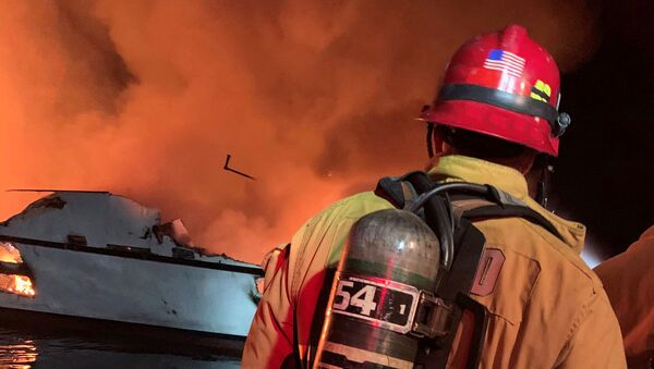 Pożar na statku w Kalifornii - Sputnik Polska
