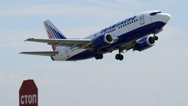 Samolot liniii Transaero - Sputnik Polska