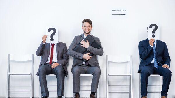 Biznesmeni czekający na rozmowę - Sputnik Polska