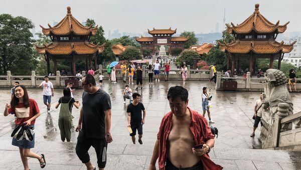 Turyści w Chinach  - Sputnik Polska