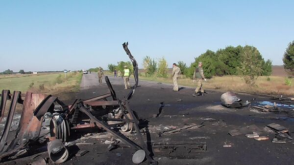 Wybuch sprzętu wojskowego na Ukrainie - Sputnik Polska