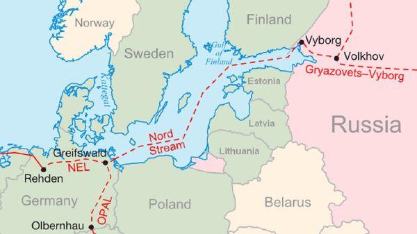 Grafika Nord Stream i OPAL  - Sputnik Polska